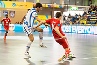 Benfica's Alan Brandi and Pescara's Luca Leggerio during UEFA Futsal Cup 2015/2016 3º/4º place match. April 22,2016. (ALTERPHOTOS/Acero)