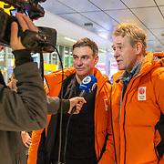 NLD/Amsterdam/20180209 - 538-team van Edwin Evers vertrekt naar de  Olympische Spelen, Peter Heerschop en Viggo Waas