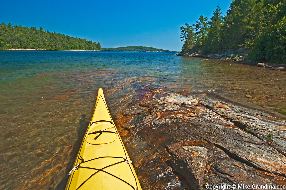 kayak and Georgian Bay<br />Parry Sound<br />Ontario<br />Canada
