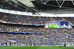 Both teams walk out onto the pitch. - Mandatory by-line: Alex James/JMP - 23/04/2016 - FOOTBALL - Wembley Stadium - London, England - Everton v Manchester United - The Emirates FA Cup Semi-Final
