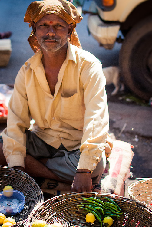 A fruit seller, Crawford market, Mumbai