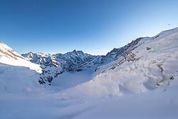 15.01.2020, Jungfraujoch, Wengen, SUI, FIS Weltcup Ski Alpin, Sightseeing Tour, im Bild Eiger Gletscher aus der Eiger Nordwand // Eiger Glacier during a sightseeing tour of FIS ski alpine world cup at the Jungfraujoch in Wengen, Switzerland on 2020/01/15. EXPA Pictures © 2020, PhotoCredit: EXPA/ Johann Groder