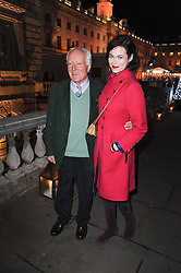 JASMINE GUINNESS and her grandfather DESMOND GUINNESS at a Winter Party given by Tiffany & Co. Europe to launch the 10th season of Somerset House's Ice Skating Rink at Somerset House, The  Strand, London on 16th November 2009.