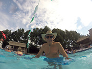 Charlie age 86,  enjoys water aerobics together in Memphis, Tennessee.