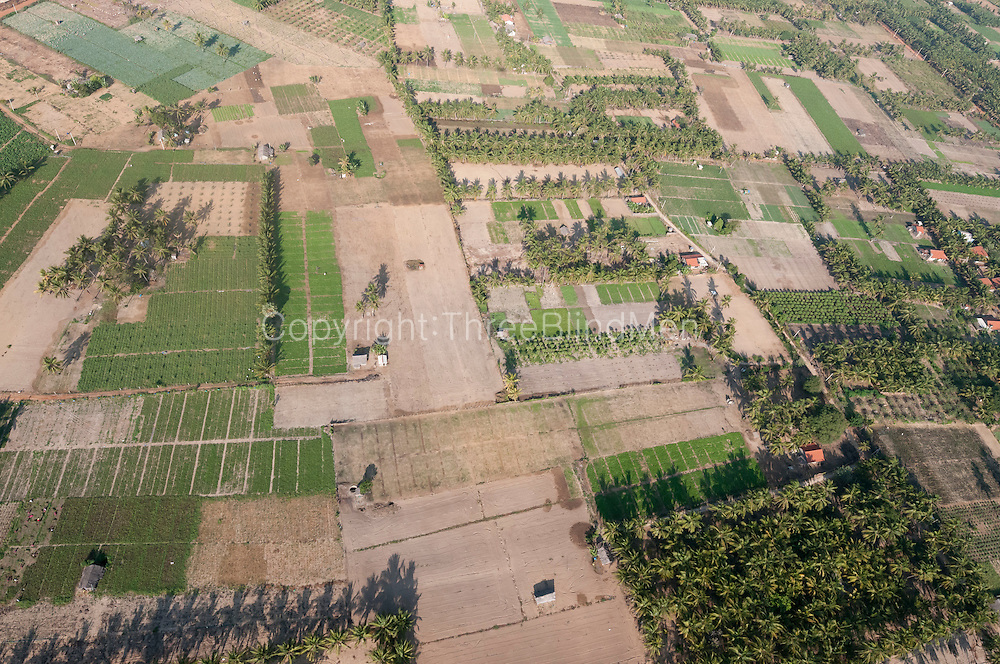The Island from Above. Agriculture on land leading to Kalpitiya
