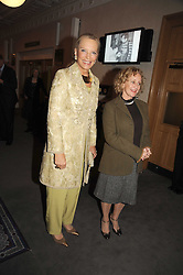 Left to right, HRH PRINCESS MICHAEL OF KENT and    at a party to celebrate the publication of 'Past Imperfect' by Julian Fellowes held at Cadogan Hall, 5 Sloane Terrace, London SW1 on 4th November 2008.