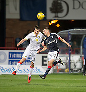 Dundee&rsquo;s Cammy Kerr and Partick Thistle&rsquo;s Callum Booth - Dundee v Partick Thistle in the Ladbrokes Scottish Premiership at Dens Park, Dundee. Photo: David Young<br /> <br />  - &copy; David Young - www.davidyoungphoto.co.uk - email: davidyoungphoto@gmail.com
