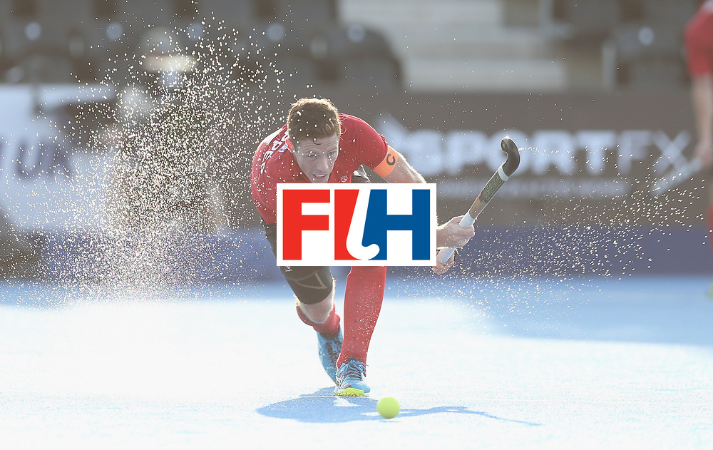 LONDON, ENGLAND - JUNE 16:  Tupper Scott of Canada during the Hero Hockey World League semi final match between Pakistan and Canada at Lee Valley Hockey and Tennis Centre on June 16, 2017 in London, England.  (Photo by Alex Morton/Getty Images)