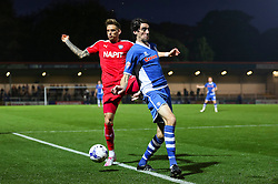 Peter Vincenti of Rochdale in action with Dan Jones of Chesterfield  - Mandatory byline: Matt McNulty/JMP - 07966 386802 - 06/10/2015 - FOOTBALL - Spotland Stadium - Rochdale, England - Rochdale v Chesterfield - Johnstones Paint Trophy