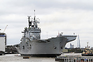 HMS Illustrious Royal Navy helicopter and commando carrier