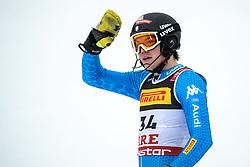 17.02.2019, Aare, SWE, FIS Weltmeisterschaften Ski Alpin, Slalom, Herren, 2. Lauf, im Bild Alex Vinatzer (ITA) // Alex Vinatzer of Italy reacts after his 2nd run of men's Slalom of FIS Ski World Championships 2019. Aare, Sweden on 2019/02/17. EXPA Pictures © 2019, PhotoCredit: EXPA/ Johann Groder
