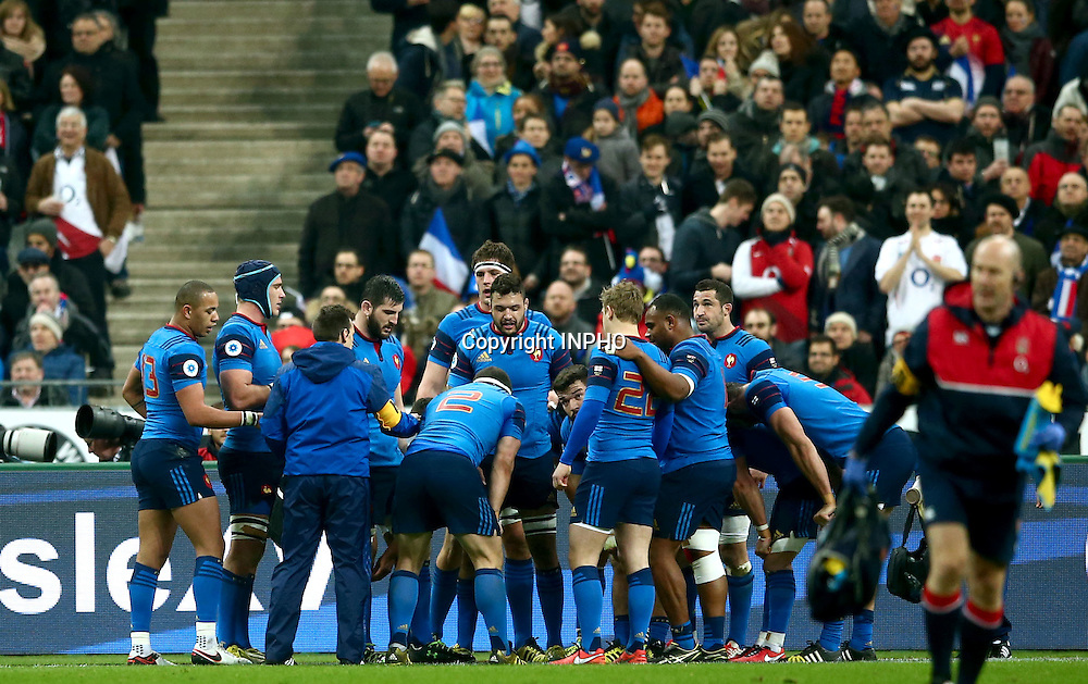 RBS 6 Nations Championship Round 5, Stade de France, Paris, France 19/3/2016<br /> France vs England<br /> France players dejected after England's Dan Cole scored a try<br /> Mandatory Credit &copy;INPHO/James Crombie
