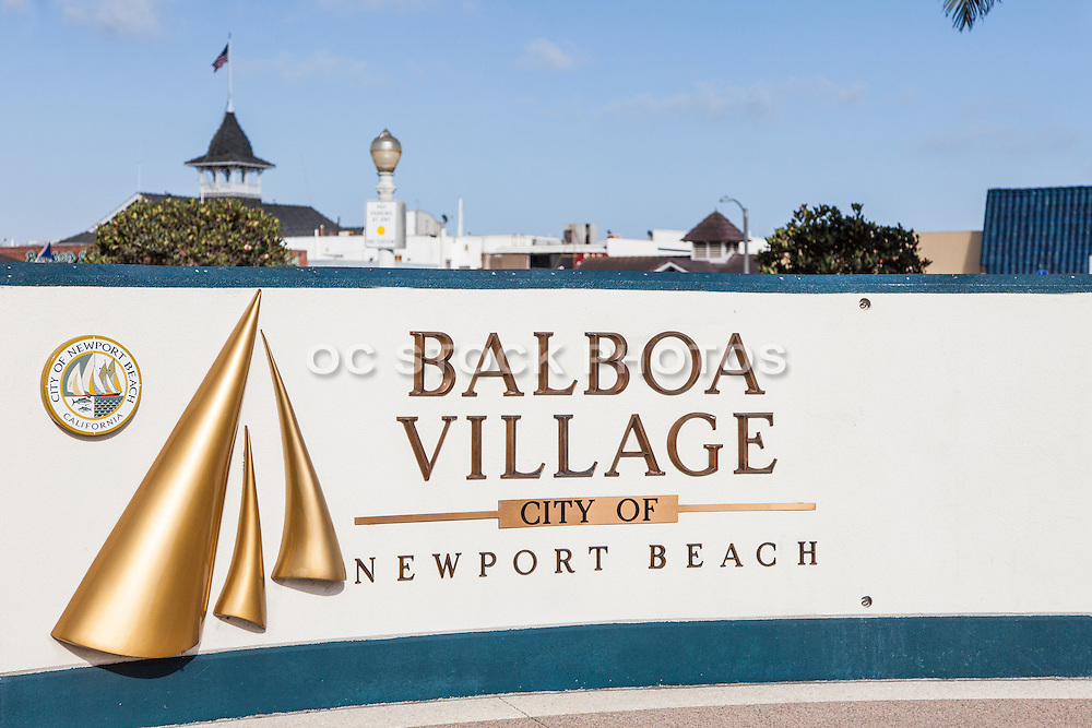 Balboa Village Newport Beach California