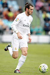 16.04.2016, Estadio Coliseum Alfonso Perez, Getafe, ESP, Primera Division, Getafe CF vs Real Madrid, 33. Runde, im Bild Real Madrid's Gareth Bale // during the Spanish Primera Division 33th round match between Getafe CF and Real Madrid at the Estadio Coliseum Alfonso Perez in Getafe, Spain on 2016/04/16. EXPA Pictures © 2016, PhotoCredit: EXPA/ Alterphotos/ Acero<br /> <br /> *****ATTENTION - OUT of ESP, SUI*****