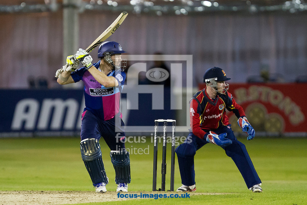 Picture by Daniel Chesterton/Focus Images Ltd. 07966 018899.18/07/12.Chris Rogers of Middlesex Panthers bats during the Clydesdale Bank 40 match at The Ford County Ground, Chelmsford, Essex.