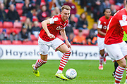 Barnsley forward Cauley Woodrow (9) in action during the EFL Sky Bet Championship match between Barnsley and Swansea City at Oakwell, Barnsley, England on 19 October 2019.