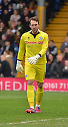 Rochdale Goalkeeper, Josh Lillis during the Sky Bet League 1 match between Bury and Rochdale at Gigg Lane, Bury, England on 17 October 2015. Photo by Mark Pollitt.