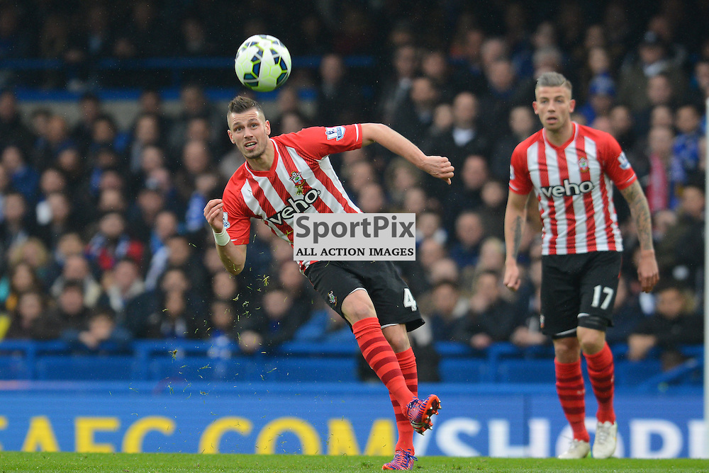 Morgan Schneiderlin of Southampton passes the ball during Chelsea v Southampton, Barclays Premier League, 15 December 2015 at Stamford Bridge Stadium, London, England (c) Salvio Calabrese | SportPixPix.org.uk
