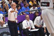 Ettore Messina<br /> Nazionale Italiana Maschile Senior<br /> Eurobasket 2017 - Group Phase<br /> Lituania Italia Lithuania Italy<br /> FIP 2017<br /> Tel Aviv, 03/09/2017<br /> Foto M.Ceretti / Ciamillo - Castoria