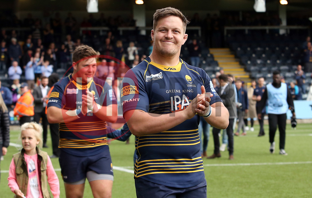 Nick Schonert of Worcester Warriors acknowledges supporters during the lap of honour - Mandatory by-line: Joe Dent/JMP - 18/05/2019 - RUGBY - Sixways Stadium - Worcester, England - Worcester Warriors v Saracens - Gallagher Premiership Rugby