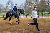 Woman races horse in Hyde Park