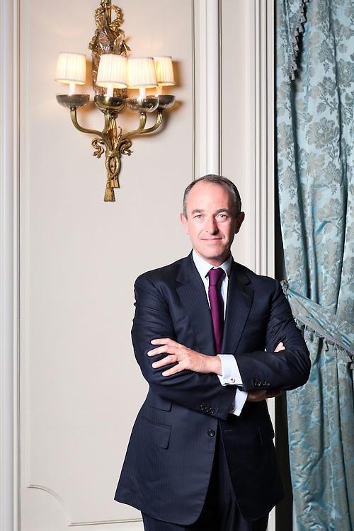 Jean-Guillaume Prats, Director de los vinos no espumosos de Moet &amp; Chandon.<br /> Hotel Ritz, Madrid.