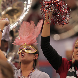 21 December 2008:  Troy fans in the stands during 30-27 overtime victory by the Southern Mississippi Golden Eagles over the Troy Trojans in the  R+L Carriers New Orleans Bowl at the New Orleans Superdome in New Orleans, LA.