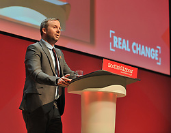General Secretary of the Scottish Labour Party Brian Roy opens the 2018 Scottish Labour conference at the Caird Hall in Dundee.<br />