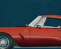 """One of the most notable GT racers of its time, the 1959 250 GT Berlinetta SWB used a short (2,400 mm (94.5 in)) wheelbase for better handling. Of the 176 examples built, both steel and aluminum bodies were used in various road (""""lusso"""") and racing trims. Engine output ranged from 240 PS (177 kW; 237 hp) to 280 PS (206 kW; 276 hp). The """"lusso"""" road car version was originally fitted with 185VR15 Pirelli Cinturato (CA67).<br /> 250 GT Berlinetta SWB interior<br /> <br /> Development of the 250 GT SWB Berlinetta was handled by Giotto Bizzarrini, Carlo Chiti, and young Mauro Forghieri, the same team that later produced the 250 GTO. Disc brakes were a first on a Ferrari GT, and the combination of low weight, high power, and well-sorted suspension made it competitive. It was unveiled at the Paris Motor Show in October and quickly began selling and racing. The SWB Berlinetta won Ferrari the GT class of the 1961 Constructor's Championship. Also won 1960, 1961 and 1962 Tour de France Automobile before giving ground to the GTO's."""