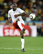 Blaise NKUFO in action during the 2010 FIFA World Cup South Africa Group H match between Spain and Switzerland at Durban Stadium on June 16, 2010 in Durban, South Africa.