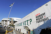 IRVING, TX - OCTOBER 23:  The ESPN Monday Night Football truck outside the stadium for the Dallas Cowboys MNF game against the New York Giants at Texas Stadium on October 23, 2006 in Irving, Texas. The Giants defeated the Cowboys 36-22. ©Paul Anthony Spinelli