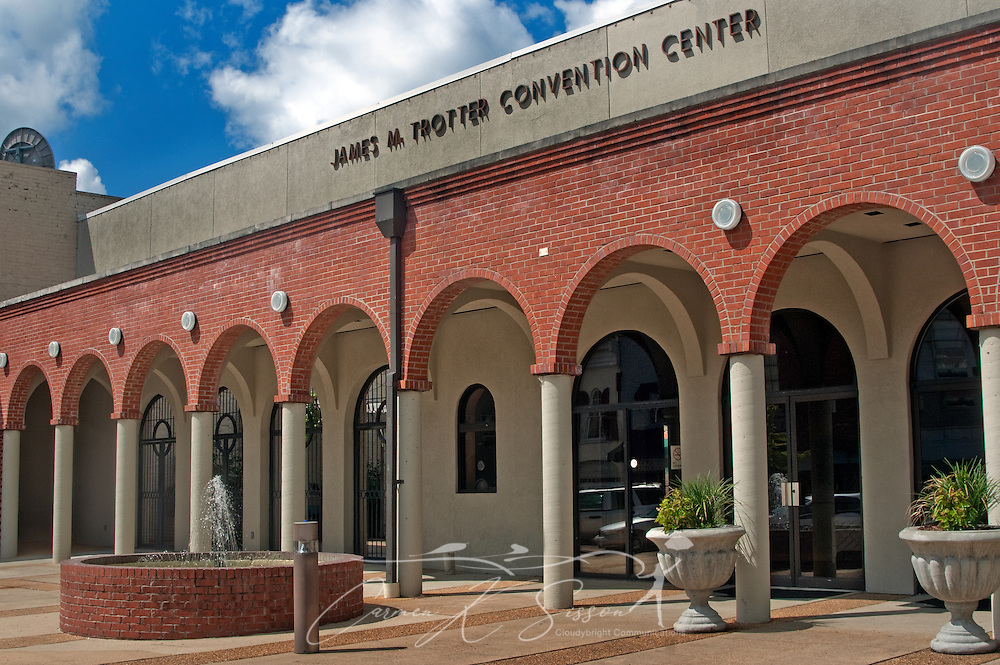 The James M. Trotter Convention Center is pictured in Columbus, Miss. Aug. 16, 2010.  The upper level houses an auditorium, and the lower level serves as meeting and conference space. (Photo by Carmen K. Sisson/Cloudybright)