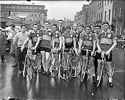 Rás Tailteann at GPO/Parnell Square, Dublin, Ireland. <br /> 03/08/1958
