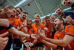 09-06-2019 NED: Golden League Netherlands - Spain, Koog aan de Zaan<br /> Fourth match poule B - The Dutch beat Spain again in five sets in the European Golden League / /ne<br /> 16/, Nimir Abdelaziz #14 of Netherlands, Michael Parkinson #17 of Netherlands, Wessel Keemink #2 of Netherlands, Thijs Ter Horst #4 of Netherlands, Gijs Jorna #7 of Netherlands