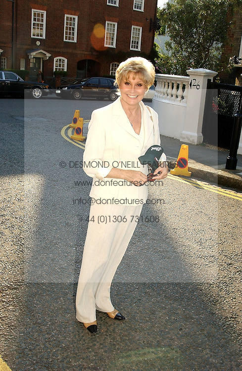 ANGELA RIPPON at Sir David & Lady Carina Frost's annual summer party held in Carlyle Square, London on 6th July 2004.