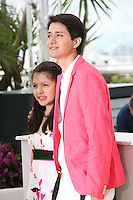 Actress Andrea Vergara, and actor Armando Espitia at the Heli film photocall at the Cannes Film Festival 16th May 2013