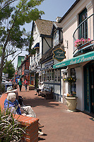 Solvang Tourism Street Scene, California