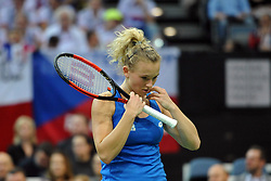 November 10, 2018 - Prague, Czech Republic - Katerina Siniakova of the Czech Republic in action during the 2018 Fed Cup Final between the Czech Republic and the United States of America in Prague in the Czech Republic. (Credit Image: © Slavek Ruta/ZUMA Wire)