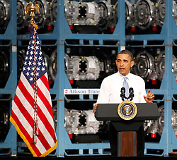 06.05.2011, Allison Transmission, Indianapolis, USA, BARACK OBAMA IN INDIANAPOLIS, im Bild .US President Barack Obama speaks during his visit at Allison Transmission's headquarters in Indianapolis, Indiana, USA on 6 May 2011, EXPA Pictures © 2011, PhotoCredit: EXPA/ Newspix/ KAMIL KRZACZYNSKI *** ATTENTION *** FOR AUSTRIA AUT, SLOVENIA SLO, SERBIA SRB an CROATIA CRO, SWISS SUI and SWEDEN SWE CLIENT ONLY / SPORTIDA PHOTO AGENCY