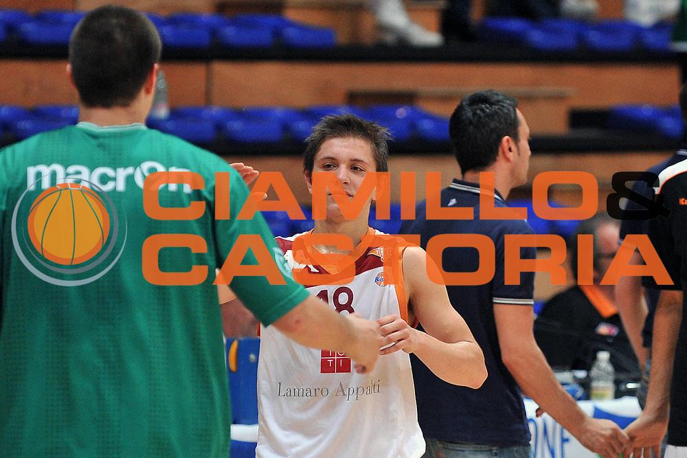 DESCRIZIONE : Cividale del Friuli Udine Finali Giovanili Nazionali Under 19 Virtus Roma Treviso<br /> GIOCATORE : Gianluca Marchetti<br /> SQUADRA : Virtus Roma<br /> EVENTO : Finali Giovanili Nazionali Under 19<br /> GARA : Virtus Roma Treviso<br /> DATA : 31/05/2011<br /> CATEGORIA : Fair Play<br /> SPORT : Pallacanestro<br /> AUTORE : Agenzia Ciamillo-Castoria/S.Ferraro<br /> Galleria : Lega Basket A 2010-2011<br /> Fotonotizia : Cividale del Friuli Udine Finali Giovanili Nazionali Under 19 Virtus Roma Treviso<br /> Predefinita :