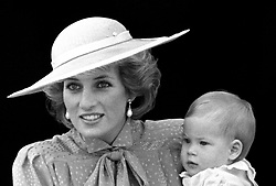 The Princess of Wales and her youngest son Prince Harry.
