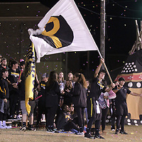 Adam Robison | BUY AT PHOTOS.DJOURNAL.COM<br /> Pontotoc students celebrate after the Warriors score against Shannon to make the score 7-14.