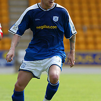 St Johnstone v Hamilton Accies..31.07.04  Bell's Cup<br />Ryan Stevenson<br /><br />Picture by Graeme Hart.<br />Copyright Perthshire Picture Agency<br />Tel: 01738 623350  Mobile: 07990 594431