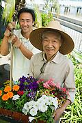 Two Men Gardening
