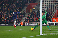 Football - 2018 / 2019 Premier League - Southampton vs. Fulham<br /> <br /> Ryan Sessegnon of Fulham has a shot on goal ruled offside at St Mary's Stadium Southampton<br /> <br /> COLORSPORT/SHAUN BOGGUST
