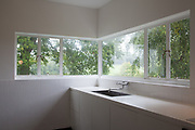 The view from the kitchen sink at Warren House, Wayne McGregor's Dartington Estate home in Devon<br /> Vanessa Berberian for The Wall Street Journal