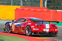 Franc?ois Perrodo (FRA) / Emmanuel Collard (FRA) / Rui Aguas (PRT) #83 AF Corse Ferrari F458 Italia, Qualifying  as part of the WEC 6 Hours of Spa-Francorchamps 2016 at Circuit Spa-Francorchamps, Stavelot, Spa-Francorchamps, Belgium . May 06 2016. World Copyright Peter Taylor/PSP.