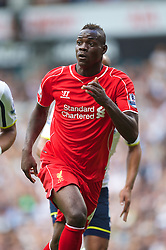 LONDON, ENGLAND - Sunday, August 31, 2014: Liverpool's Mario Balotelli in action against Tottenham Hotspur during the Premier League match at White Hart Lane. (Pic by David Rawcliffe/Propaganda)