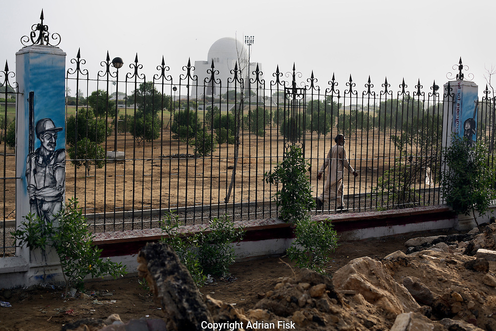 Celebrated young pakistani artist Asim Butt on a journey of political graffiti through Pakistan during the summer of 2009..'Room for Two' at Jinnahs tomb in Karachi asks why Jinnah is buried in a grand mausoleum when the martyrs who battle out his legacy have no one mourning them.