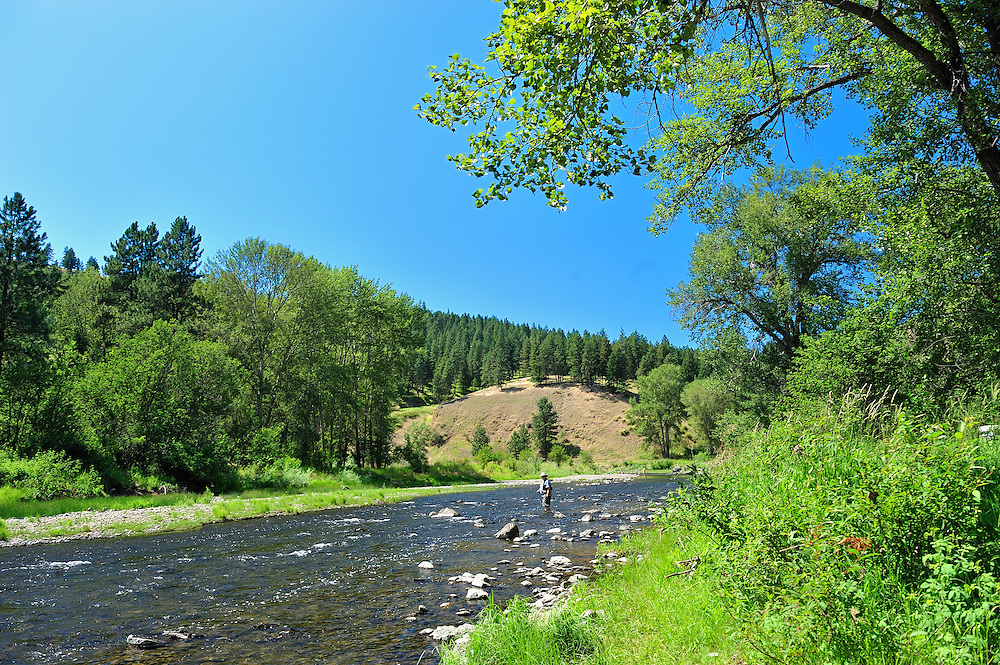 Fly fishing,Grande Ronde River,Oregon,USA